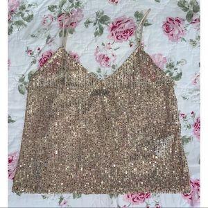 Zara Gold Sequin Tank✨
